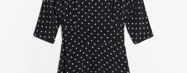 3/4 Sleeve Dress - Black