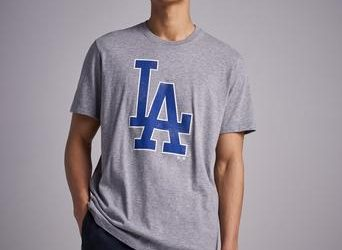 47 Brand MLB Los Angeles Knockaround Tee Slate Grey Grå