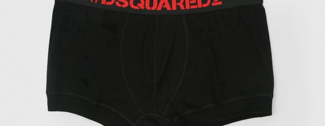 #Dsquared2 Trunks Svart/Röd