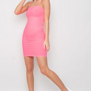 Strappy Bodycon Dress - Ace Pink