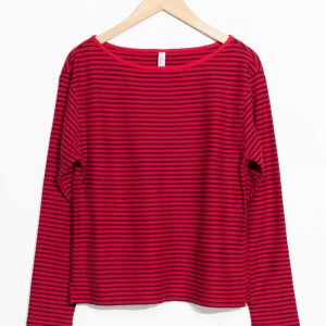 Striped Jersey T-Shirt - Red
