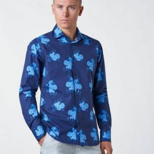 Studio Total Henry Flower Shirt Blå
