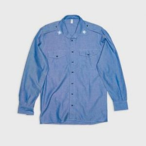 Vintage by Stayhard Italian Chambray Shirt Blå