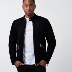William Strouch Suede Jacket Svart