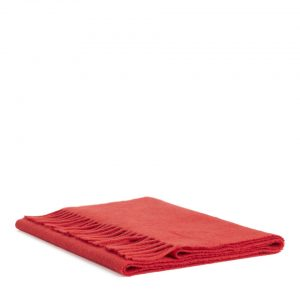 Woven Wool Scarf - Red