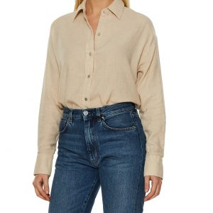 Vince Blus Boxy Button Down L
