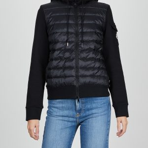 Moncler Jacka Zip Up Cardigan svart L